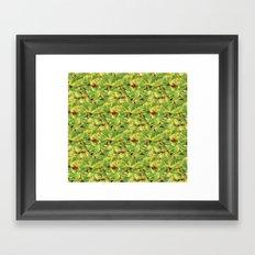 Green Leaves Surface Design Pattern Framed Art Print
