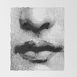 Lina Cavalieri - nose and mouth Throw Blanket