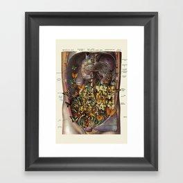 feeling fluttery anatomical collage by bedelgeuse Framed Art Print