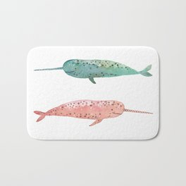 Narwhals on their way Bath Mat