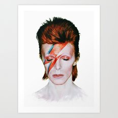 Bowie Tribute Art Print