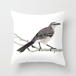 Northern mockingbird - Cenzontle - Mimus polyglottos Throw Pillow