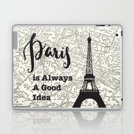Paris is Always a Good Idea - Vintage Map Laptop & iPad Skin
