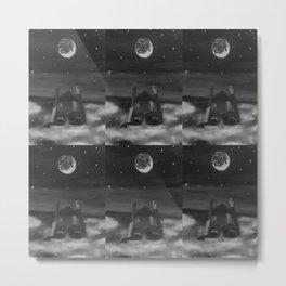 Dreams by Lu, black-and-white Metal Print