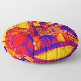 HUGH HEFNER ART POSTER FISHING CAPTAIN COOL Floor Pillow