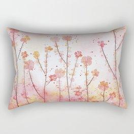 Pink Field of Flowers Rectangular Pillow