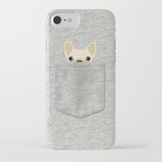 Pocket French Bulldog - Cream iPhone 7 Slim Case