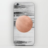 rose gold iPhone & iPod Skins featuring rose gold #1 by LEEMO