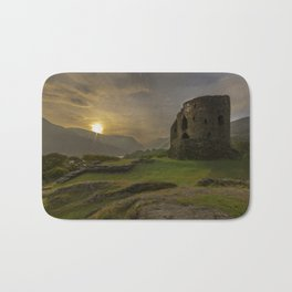 Dolbadarn Castle Sunrise Bath Mat