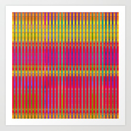 Popsicle Stripes Art Print