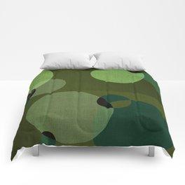 """""""Retro Green Super Dots"""" Comforters"""