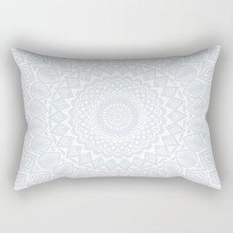 Minimal Minimalistic Light Cool Gray Mandala Rectangular Pillow