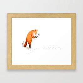 Foxy Detective Framed Art Print