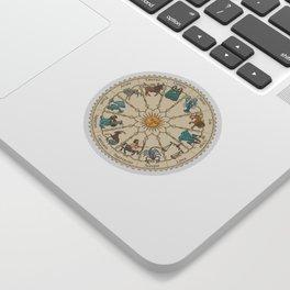 Vintage Astrology Zodiac Wheel Sticker