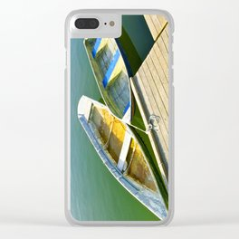 Dories at the Dock Clear iPhone Case