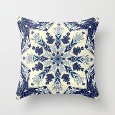 Deconstructed Waves Mandala Throw Pillow