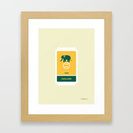 Oakland Baseball Ticket (2 of 30) Framed Art Print