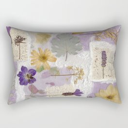 Lavender Collage Rectangular Pillow