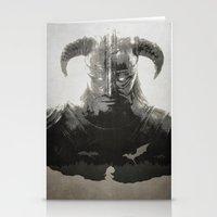 skyrim Stationery Cards featuring Dragonborn - Skyrim by Edward J. Moran II