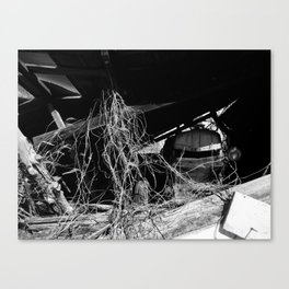 Abandoned Tracker (Black and White) Canvas Print