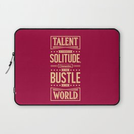 Lab No. 4 Talent Is Formed Johann Goethe Life Motivational Quotes Laptop Sleeve