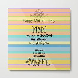 Awesome Mom Metal Print