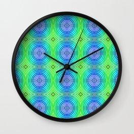 Mosaic pattern lightgreen  Wall Clock
