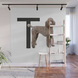 T is for Toy Poodle Wall Mural