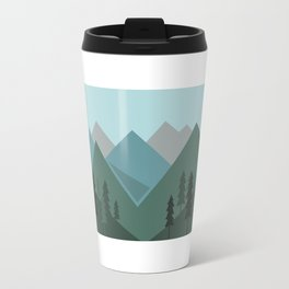 Mountains in the forest Travel Mug