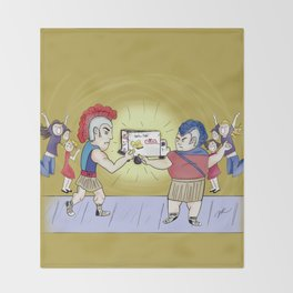 Twinkie Fight Throw Blanket