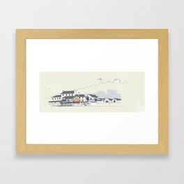 Locals only - Lyme Regis , Dorset, UK Framed Art Print
