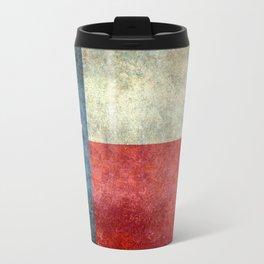 Texas flag, Retro distressed texture Travel Mug