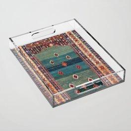 Sivas Antique Turkish Niche Kilim Print Acrylic Tray