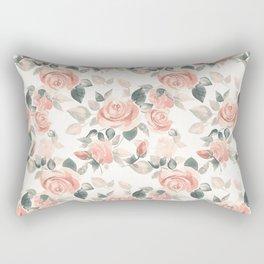 Delicate roses. Watercolor Rectangular Pillow