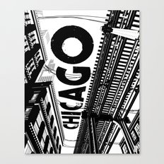 Cities in Black - Chicago Canvas Print