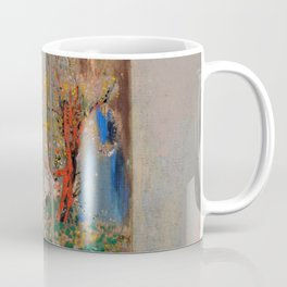 "Odilon Redon ""Devotion near a red bush"" Coffee Mug"