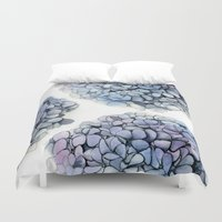 hydrangea Duvet Covers featuring Hydrangea by Henry Chang