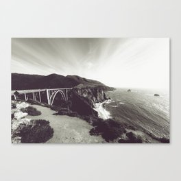 Bixby Bridge Black & White (Big Sur) Canvas Print