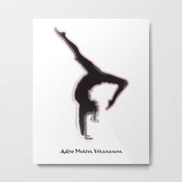 Yoga Series - Adho Mukha Vrksasana Metal Print
