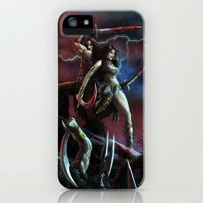 Barbarian and the Bellydancer iPhone Case