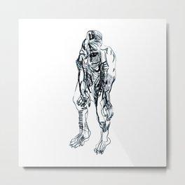 Pensive. Metal Print