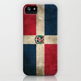 Old and Worn Distressed Vintage Flag of Dominican Republic iPhone Case