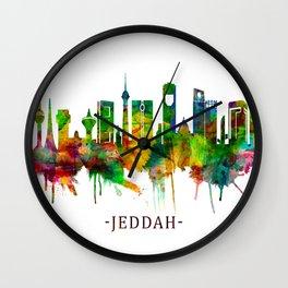 Jeddah Saudi Arabia Skyline Wall Clock