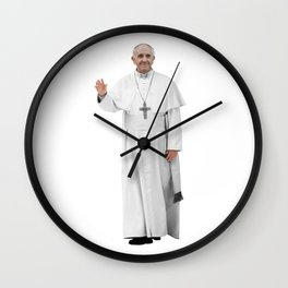 High Resolution Standing Waving Pope Francis Wall Clock