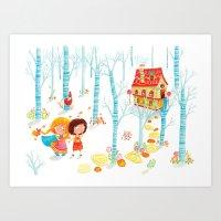 Hansel and Gretel Art Print