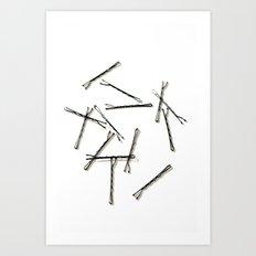 Bobby Pins Abstract Art Print