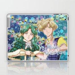 Merry Xmas Haruka & Michiru! Laptop & iPad Skin