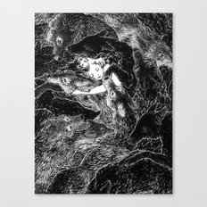 The Child Sleeps (B&W) Canvas Print