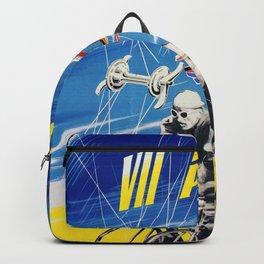 Vintage Polish Road Race Poster Backpack