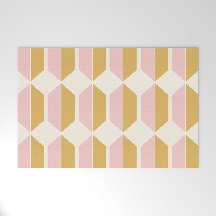 Zola Hexagon Pattern - Sunrise Welcome Mat